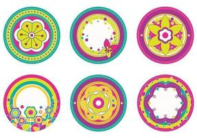 Blumen-Tags Vector Pack