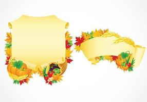 Thanksgiving scrolls vector pack