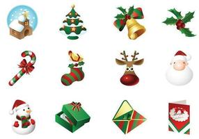 Christmas Time Ikoner Vector Pack