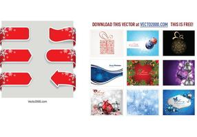 Christmas-ribbon-banner-vector