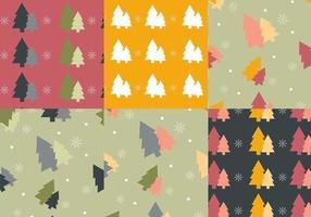 Pack de motifs vectoriels arbre de Noël coloré
