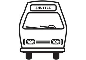 Shuttle Bus Icon Vector