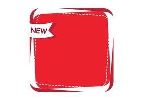 Röd ny reklam banner vektor