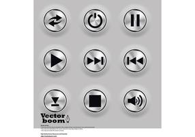 Metal Buttons Vectors