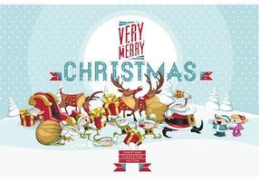 Personajes de arte de vector de Navidad Pack