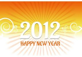 2012 Nieuwjaar Kaart Vector