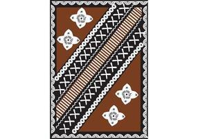 Gratis Fijian Tapa Design Vector