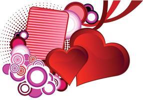 Hjärtvektor för St Valentinsdag