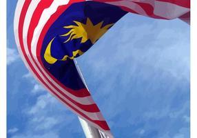 Drapeau Vecteur de Malaisie