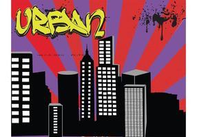 Ciudad vector paisaje urbano