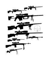 Gun Vector Sniper Rifle Pack #1