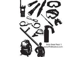 Gear Vector Police Duty Gear Pack #1