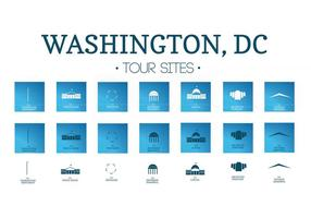 Icons Vector Pack of Washington, DC