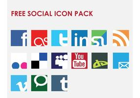 Icon Vector Social Network Set