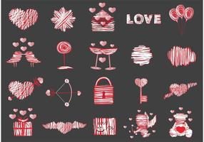 20 Gratis Love Vector Elements Pack