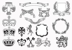Heraldry-vector-elements-pack