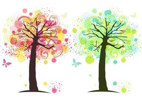 Inkt Splat Tree Vector Behang