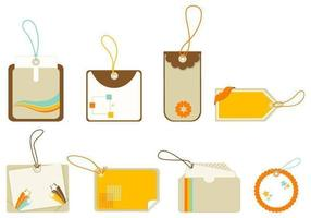 Retro Vector Tag und Label Pack