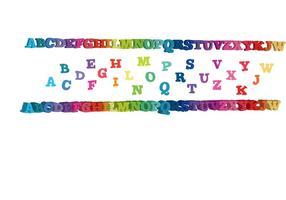 rainbow letters 3d