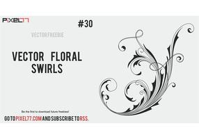Free vector floral swirls