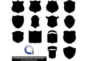 14 Crest Silhouettes voor Logo Designs