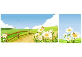 Primavera Daisy Vector Wallpaper Pack