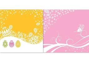 Easter Background Vector Pack
