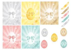 Easter Egg and Ribbons Vector Pack