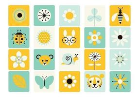 Spring icoon vector pack
