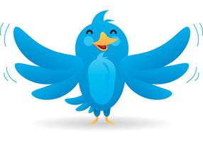 Mascote do vetor do pássaro do twitter