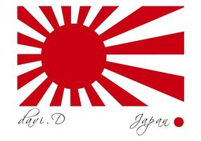 The Rising Sun Vector Flag japonais
