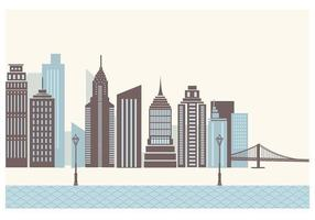 Skyscraper City Wallpaper Vector