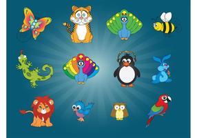 12 Animal Vector Graphics