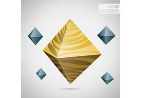 Fundo abstrato do vetor Octagon
