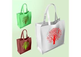 Vector shopping bags