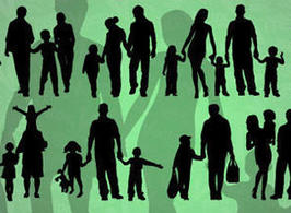 Vector-of-family-silhouettes