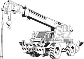 Gratis Vector Rough Terrain Crane