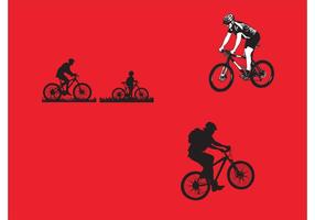 Mountain Cykling Vector Pack