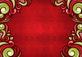 Swirls on Red Background