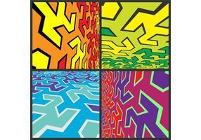 Pack d'arrière-plan vectoriel abstrait