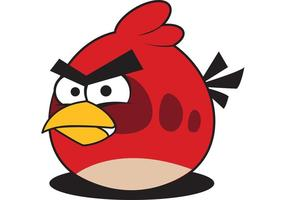 Red Angry Bird Vector