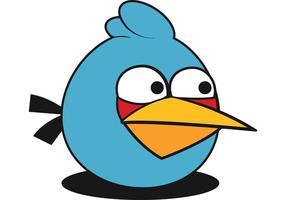 Blue Angry Bird Vector