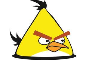 Amarillo enojado pájaro vector