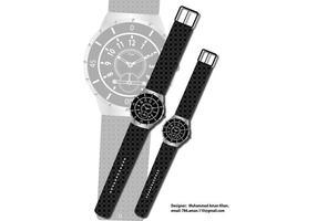 Vetor relógio de pulso