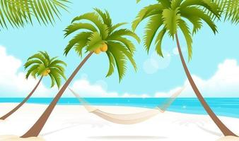 Tropical-beach-vector-wallpaper
