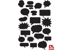 Comic Bubbles Vector Pack