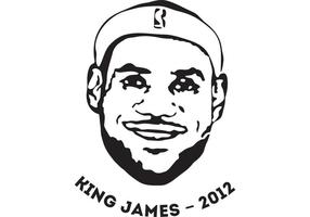 "Leblon ""King"" James gratuit T-shirt vector file"