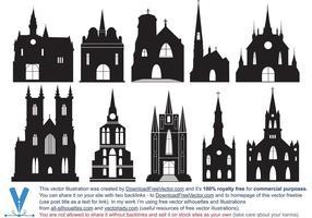 Silhouettes katolska kyrkan