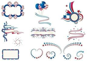 Four of July vector pack