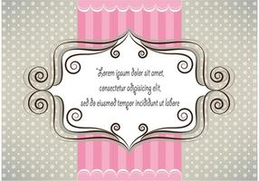 Lovely pink and gray card design